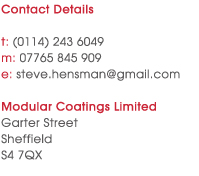 Contact Modular Coatings for more information